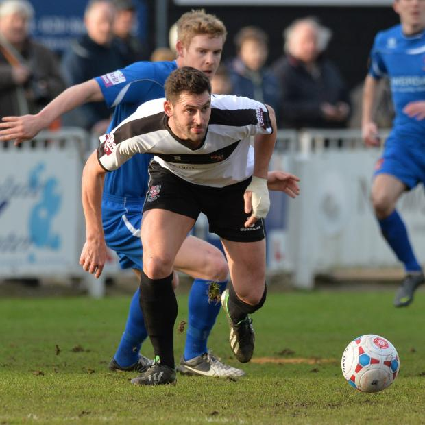 News Shopper: Jay May (above) had first half opportunities for the Lillywhites. Picture by Keith Gillard.