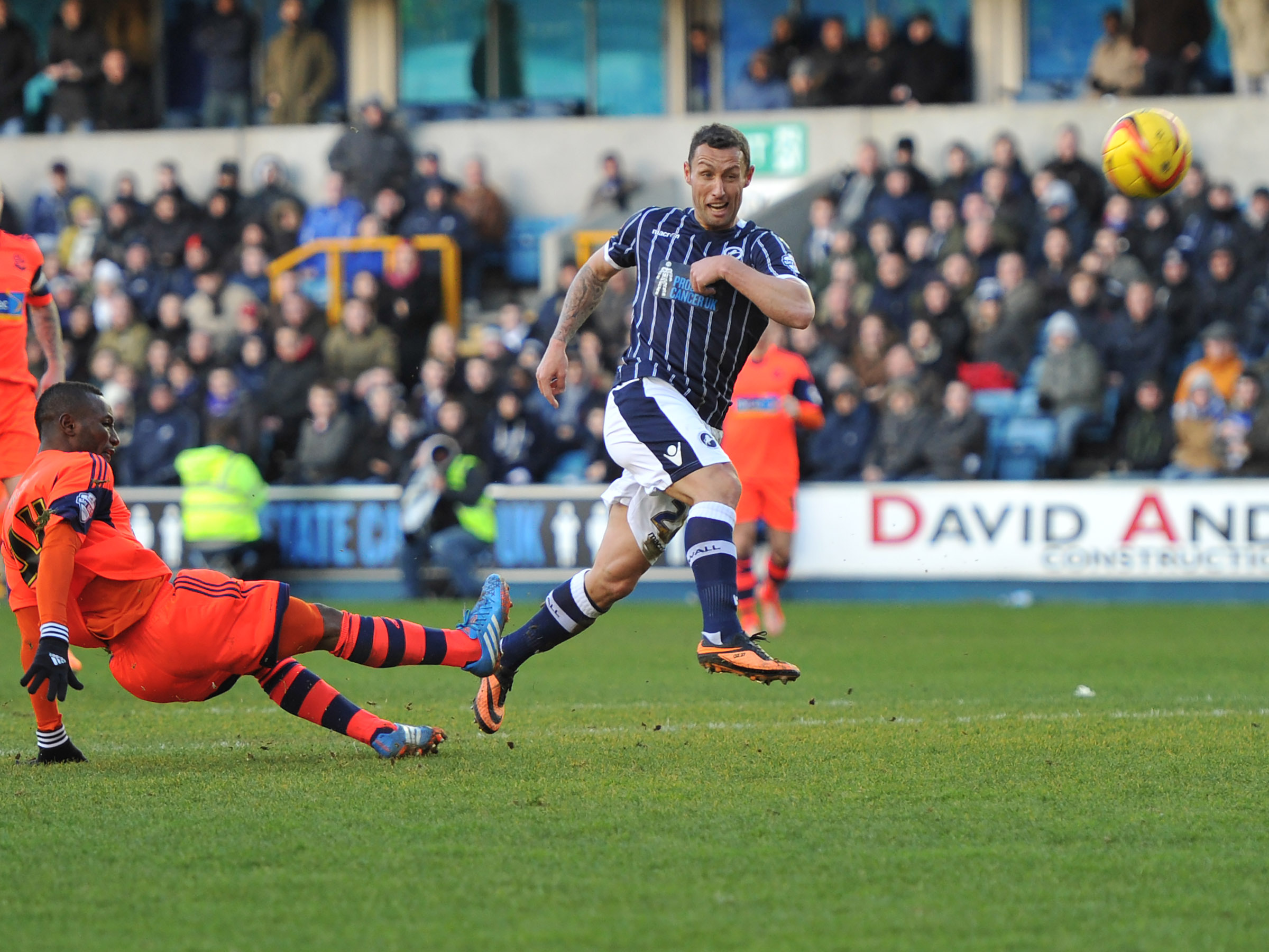 News Shopper: Scott McDonald sees this effort fly just over the bar