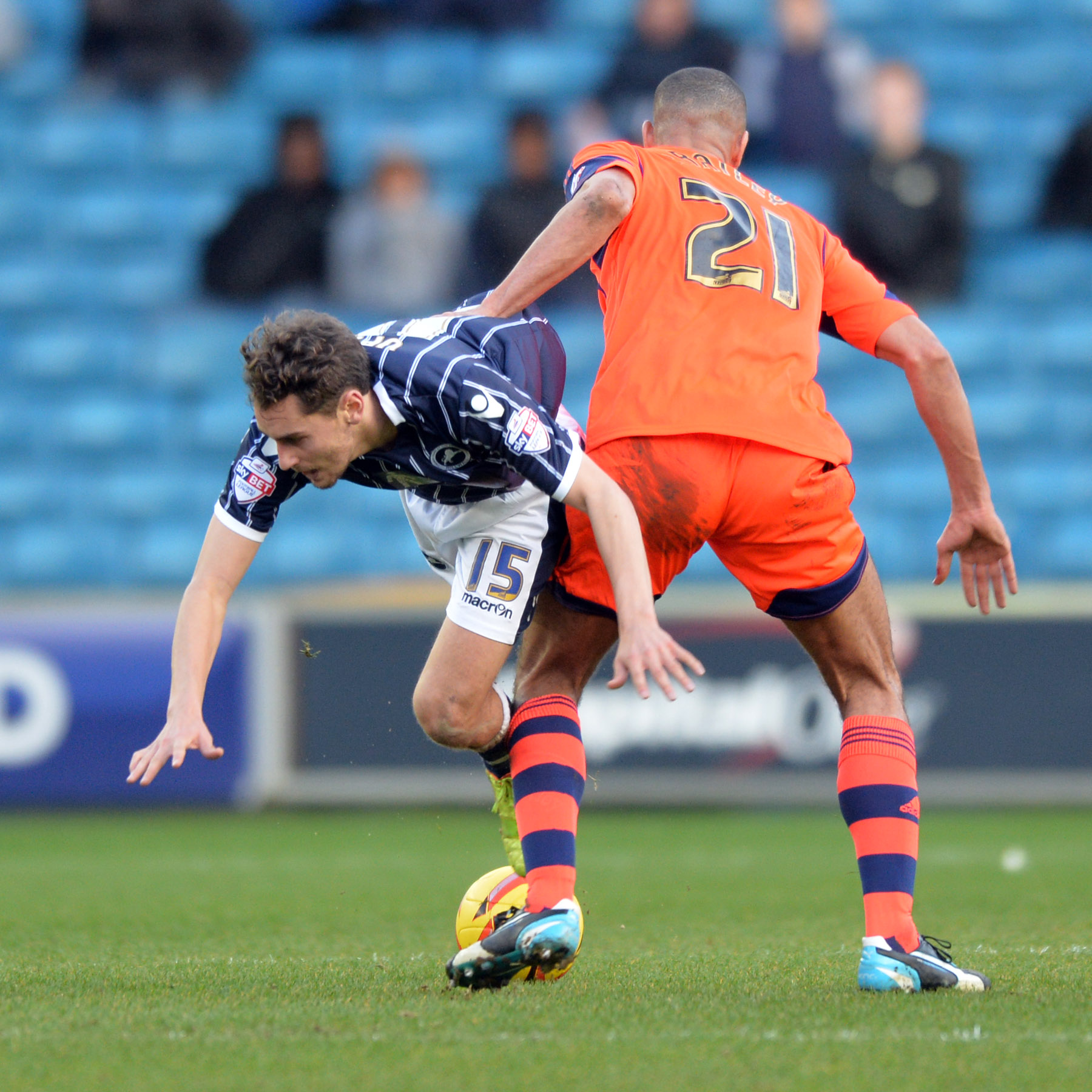 News Shopper: Ed Upson is fouled by Darren Pratley