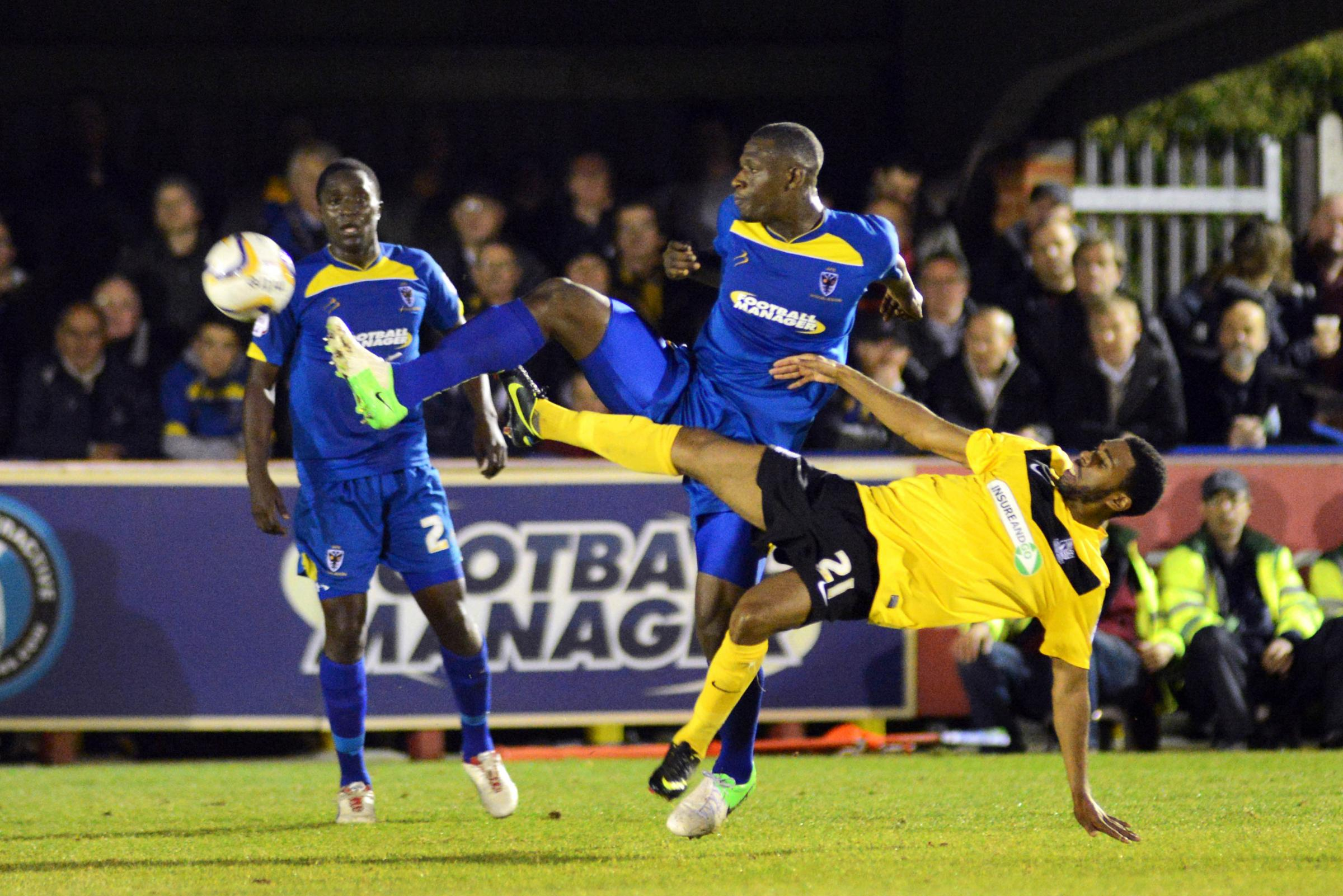 Yado Mambo during his loan spell with AFC Wimbledon in 2012