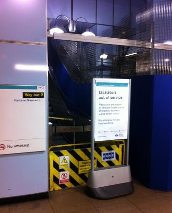 The Cutty Sark DLR escalator 'sped up, went backwards and trapped commuter's foot'