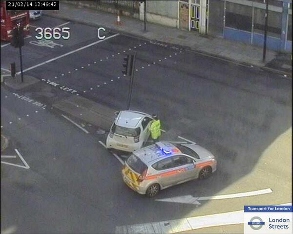 A picture of the scene tweeted by TfL
