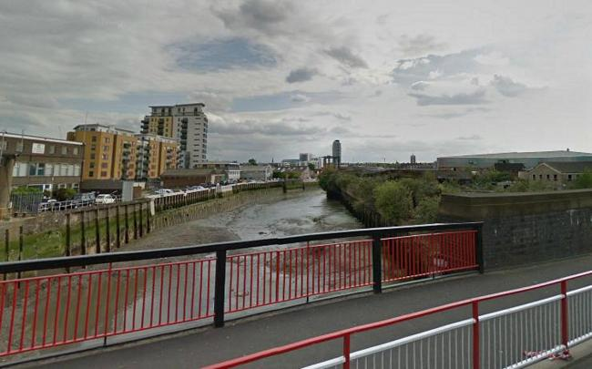 Deptford Creek - a new kind of postcode war (pic from Google Maps)