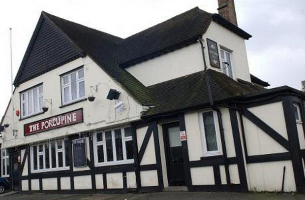 The Porcupine pub in Mottingham Road, Mottingham.