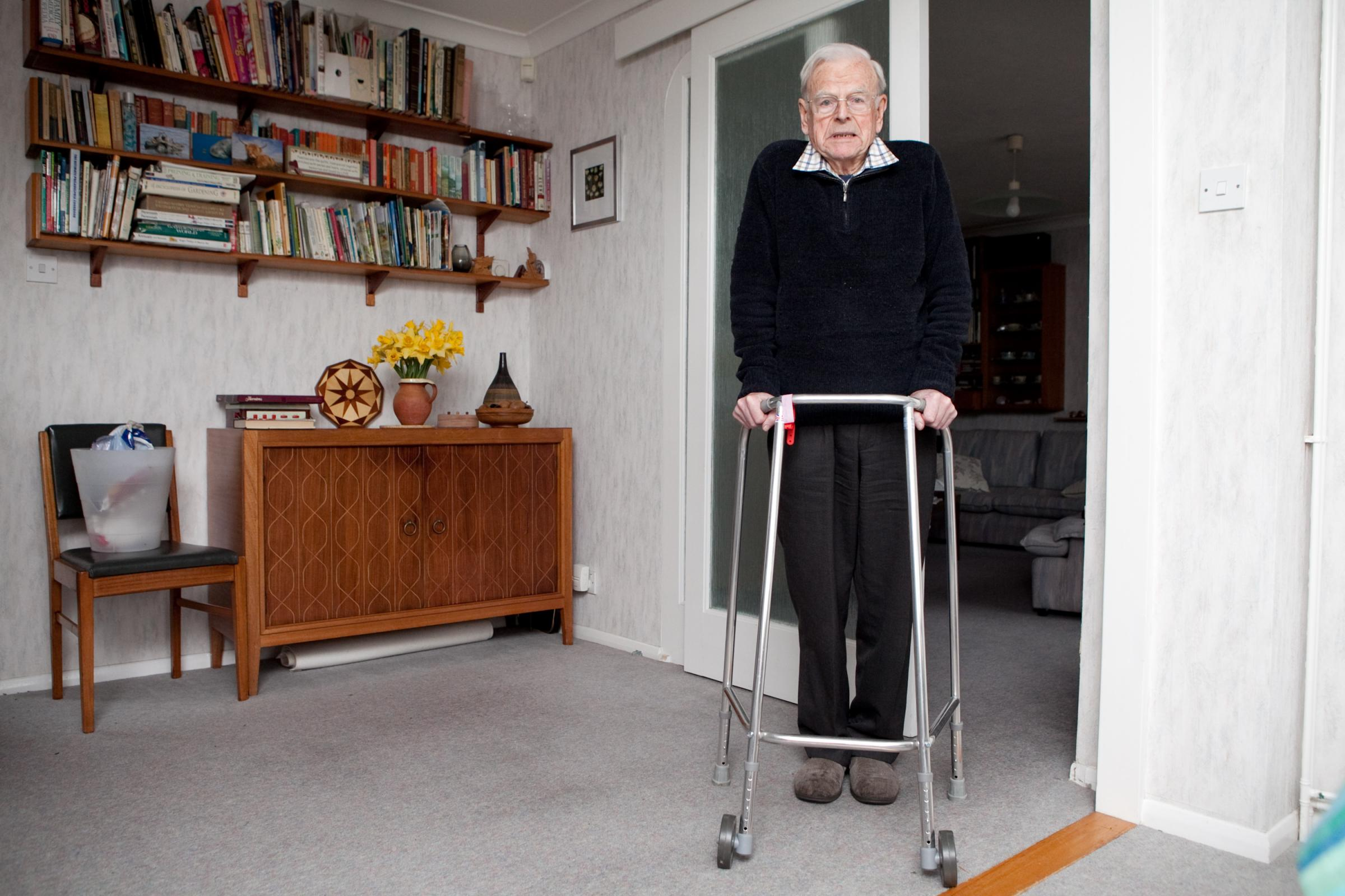 Elderly Bromley man told to 'dump' Zimmer frame by hospital after offering to return