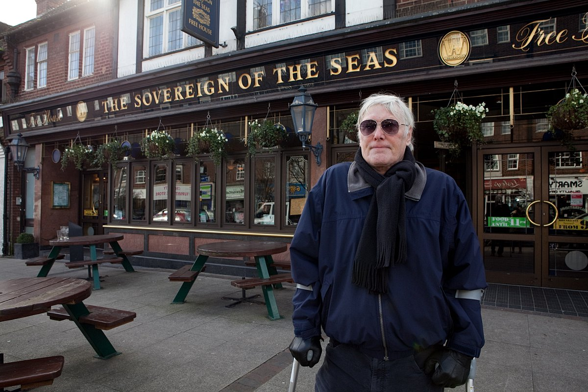 George Ralph was barred after he complained about the customer service at the Sovereign of the Seas, Petts Wood