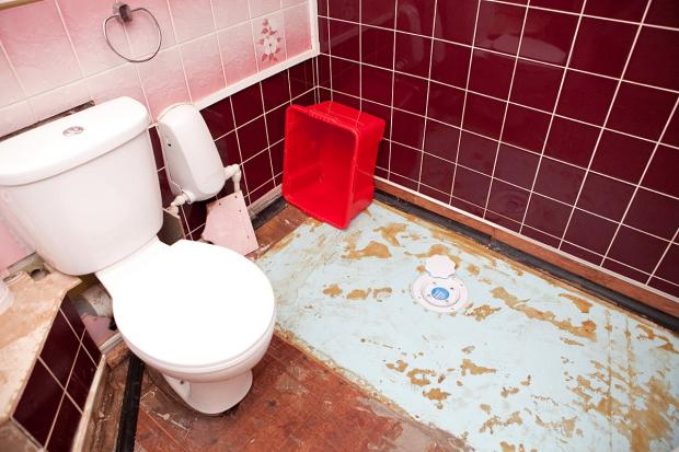 News Shopper: Repairs in the wet room have been delayed after Mrs Dillaway's ceiling collapsed.