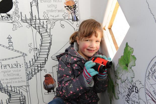 News Shopper: Sophie Mauritz, six, in the hide