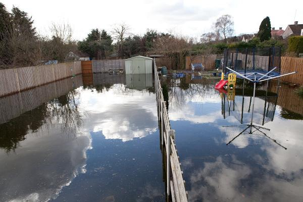 South-east London avoided the worst of the weather but still didn't escape from the wettest winter ever without any flooding, as this picture from West Wickham shows