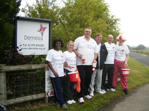 News Shopper: Richard Huntley pictured with other members of the fundraising team