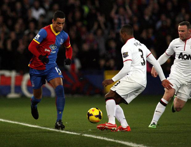 News Shopper: Tom Ince in action for Crystal Palace against Manchester United