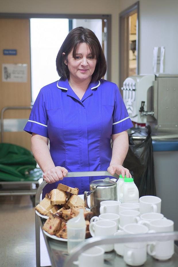 News Shopper: Matron Kate Hudson on her tea round at Queen Elizabeth Hospital