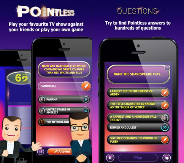 Play Pointless on your mobile phone or tablet