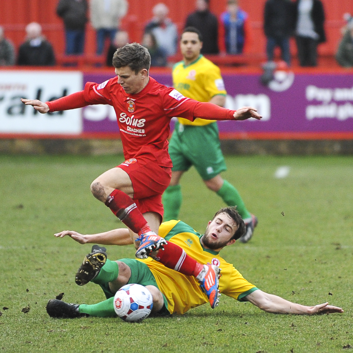 News Shopper: Jake Gallagher gets a tackle in on Lloyd Kerry