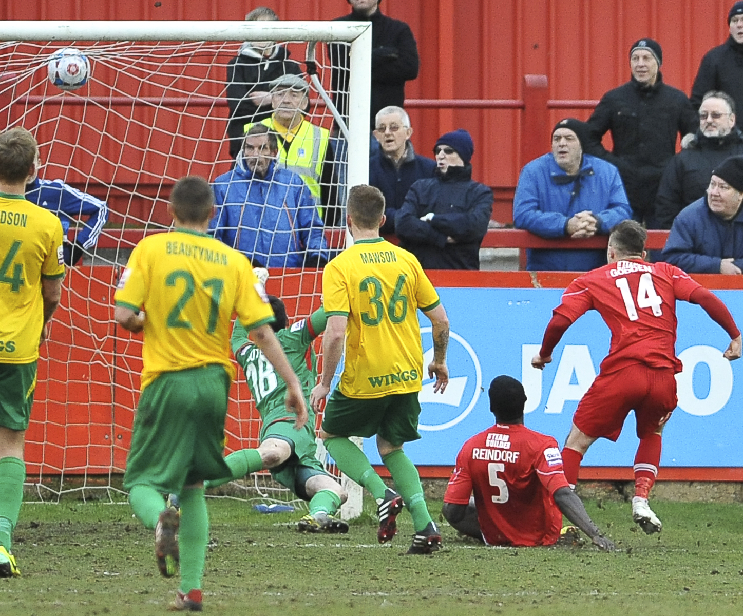 News Shopper: Matthew Godden (14) equalises late on in the second half