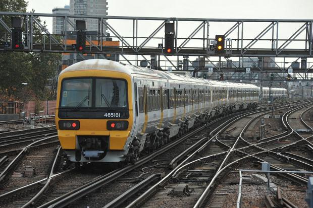 Trains running through Orpington station are delayed