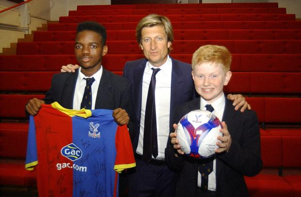 News Shopper: L-R Ajanai Ferguson-Burke,16, Steve Parish and Alfie Cunningham, 12