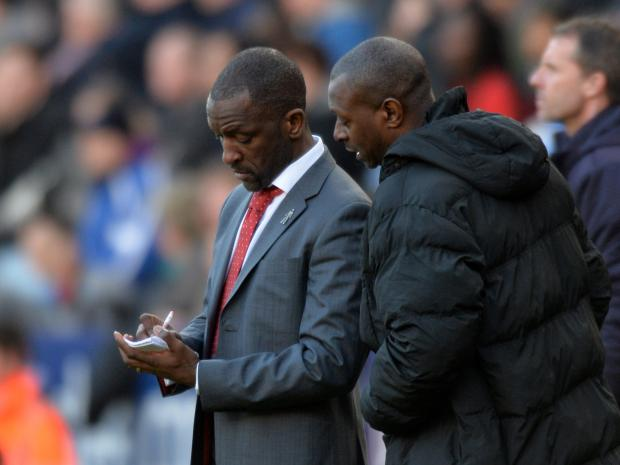 Leicester City gave Chris Powell and his assistant Alex Dyer plenty to think about on Saturday. PICTURE BY KEITH GILLARD.