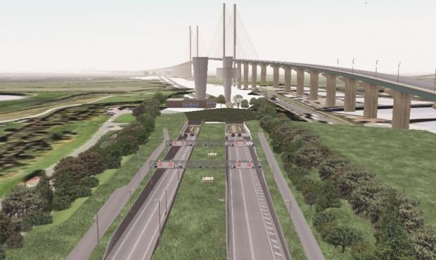 How the new barrier-free Dartford Crossing will look.