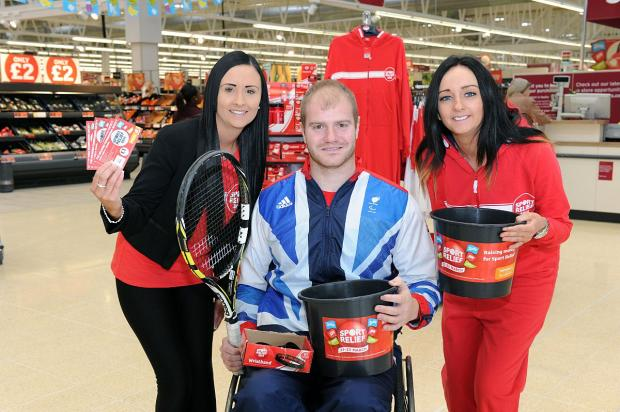 Marc with store staff (left to right) Ashleigh Noulton and Sam Connelly.