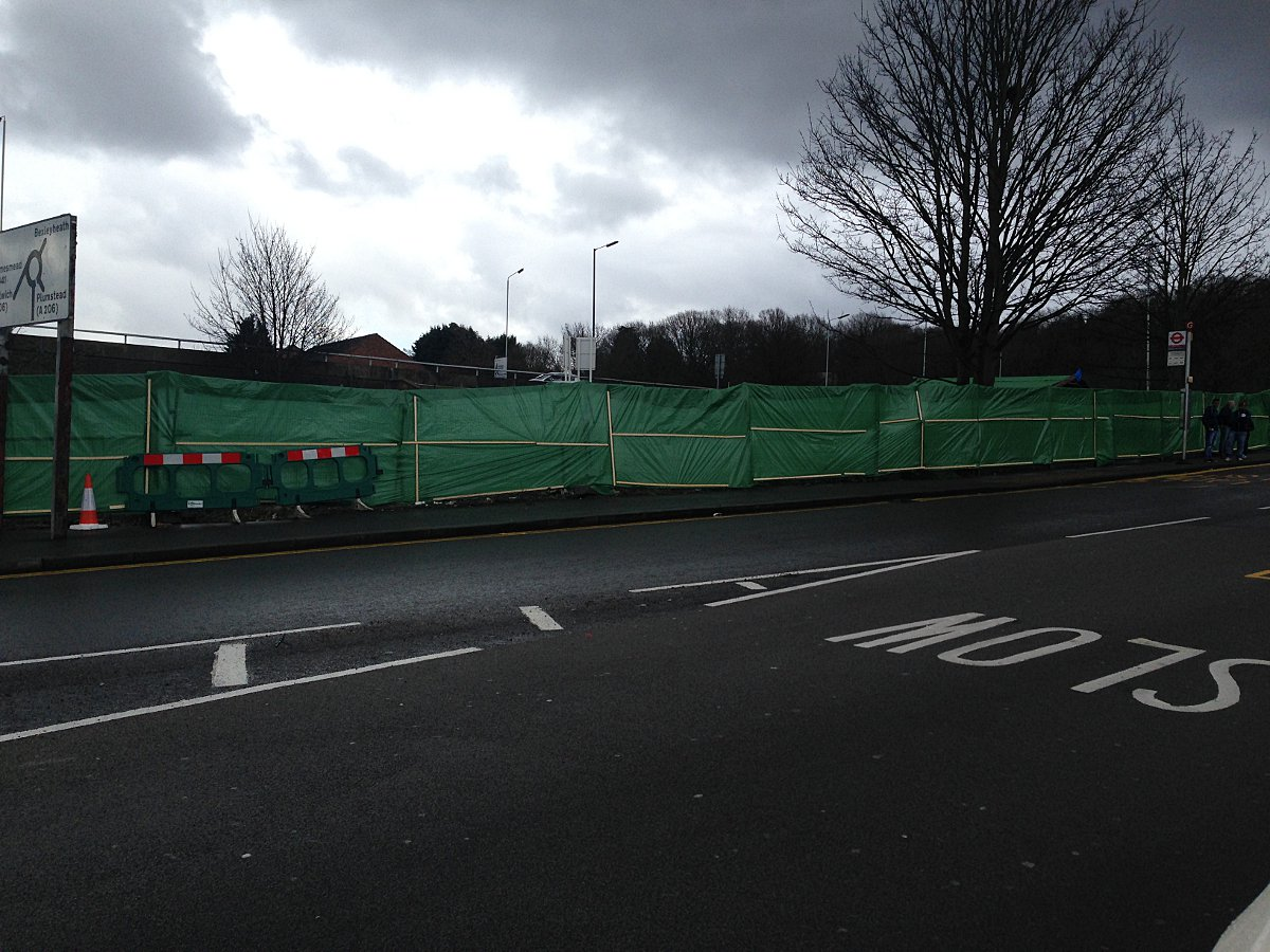 Derelict former Abbey Wood pub site has now been covered up - sort of