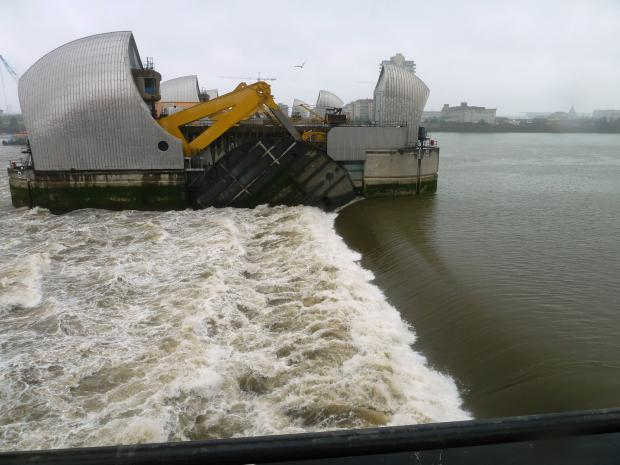 News Shopper: Thames Barrier closes for record-breaking 50th time this winter