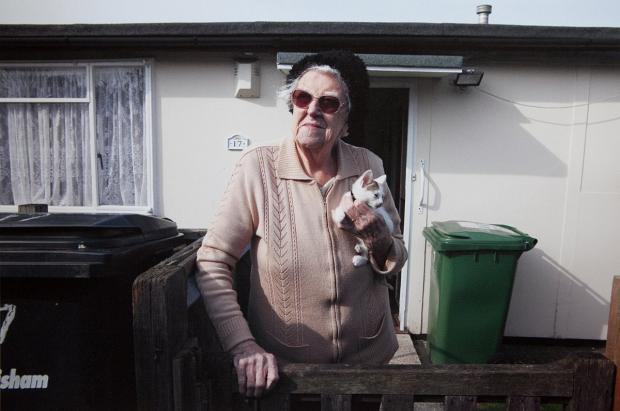 News Shopper: Photo by Elisabeth Blanchet taken at the prefab where she is holding the exhibition.
