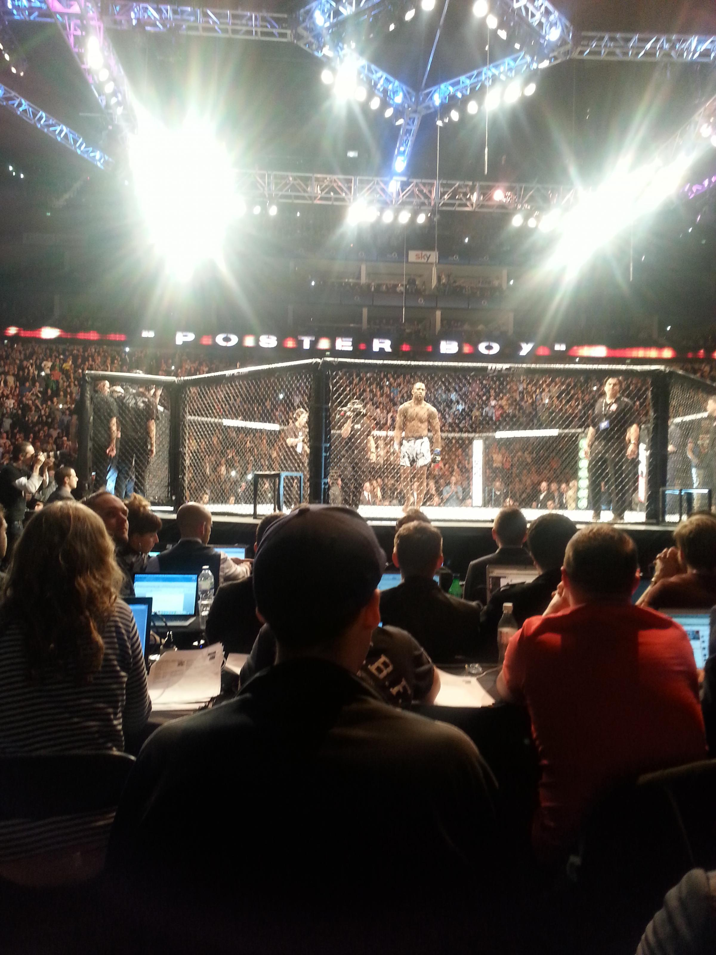 Jimi Manuwa enters the ring at UFC Fight Night London at the O2
