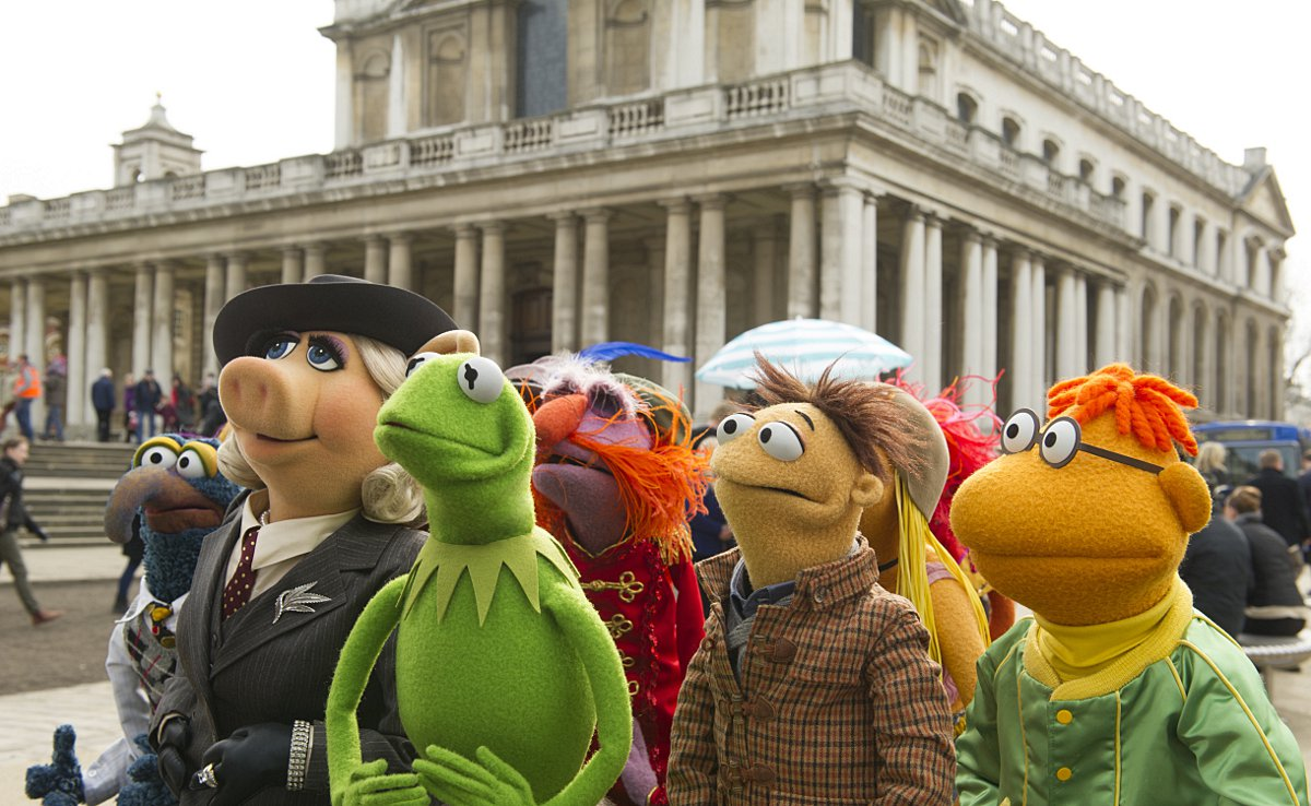 Kermit, Miss Piggy and the colourful mupp