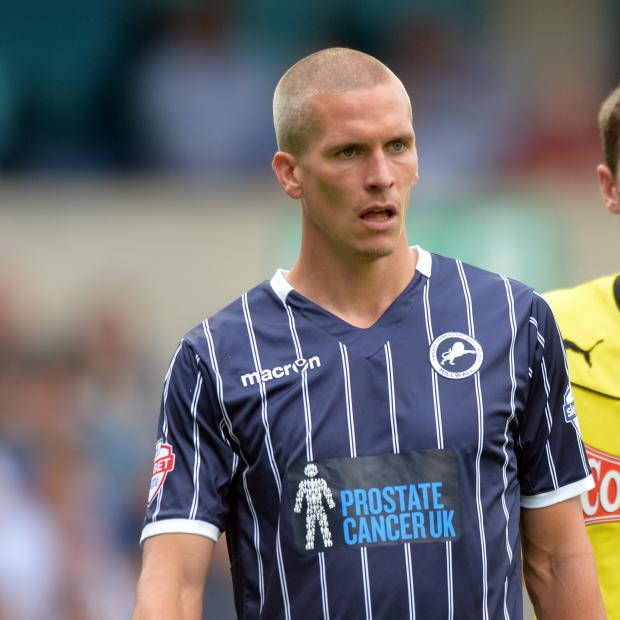 News Shopper: Steve Morison (above) missed a penalty and suffered a neck injury. Pictuire by Keith Gillard.