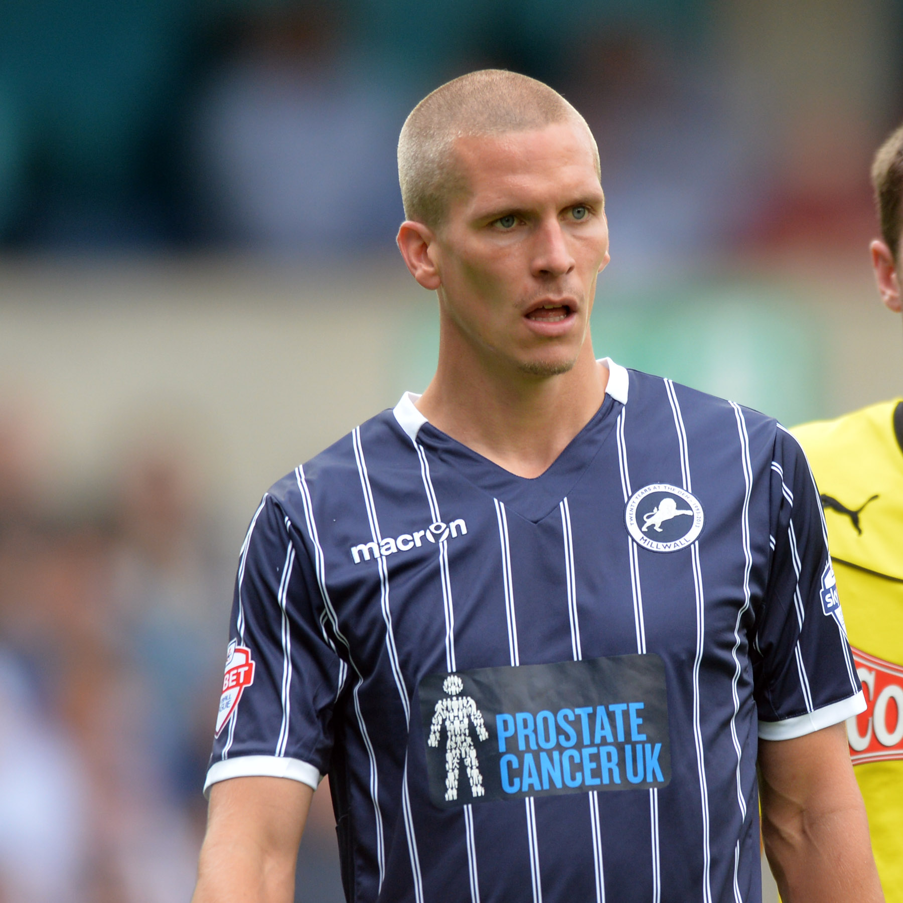 Steve Morison (above) missed a penalty and suffered a neck injury. Pictuire by Keith Gillard.