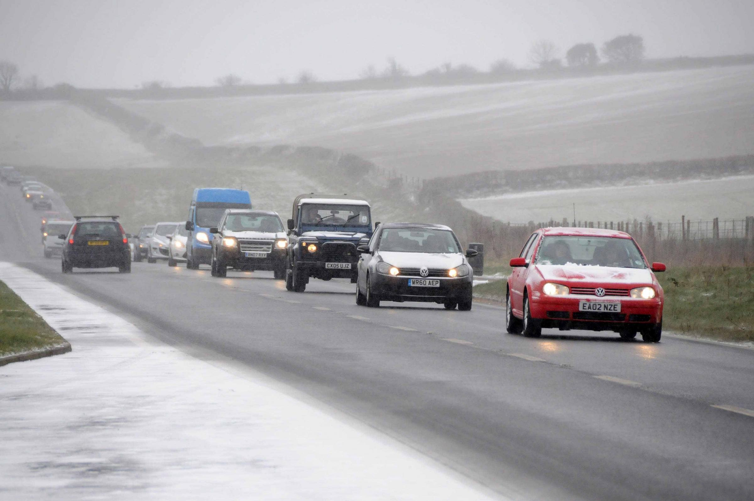 Flurry of snow before London heatwave