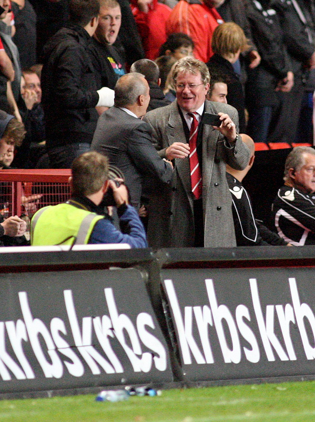 Jim Davidson on the touchline at The Valley. Picture by Edmund Boyden.