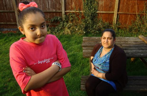 Jane Crockett with her 11-year-old daughter Cheyenne Rahman