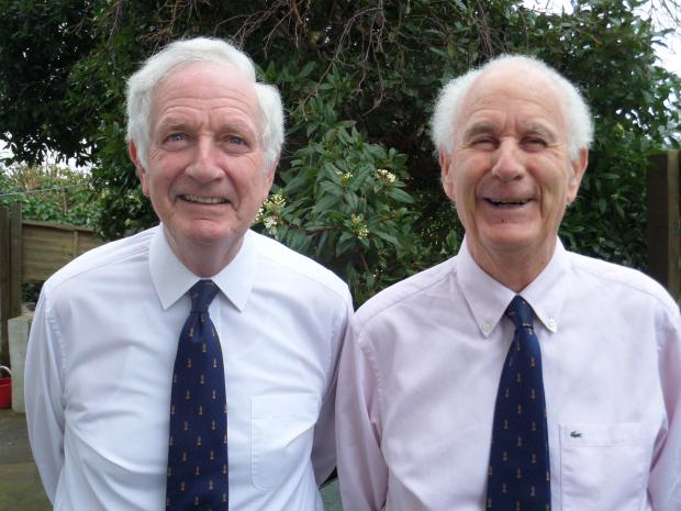 News Shopper: Critic fanatics Peter Pyemont (right) and his brother Christopher.