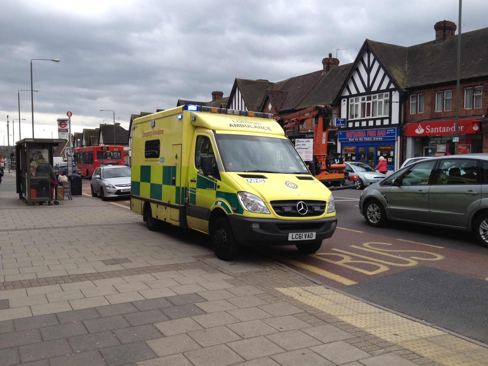A woman was hit by a car in Petts Wood this afternoon