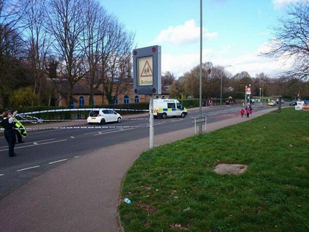 The crash in Perry Hall Road happened at around 3.20pm
