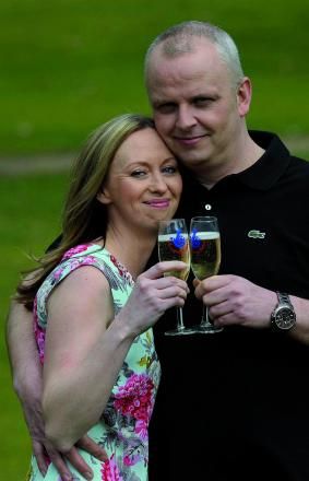 Neil Trotter and and his partner Nicky Ottaway celebrate their Euromillions jackpot
