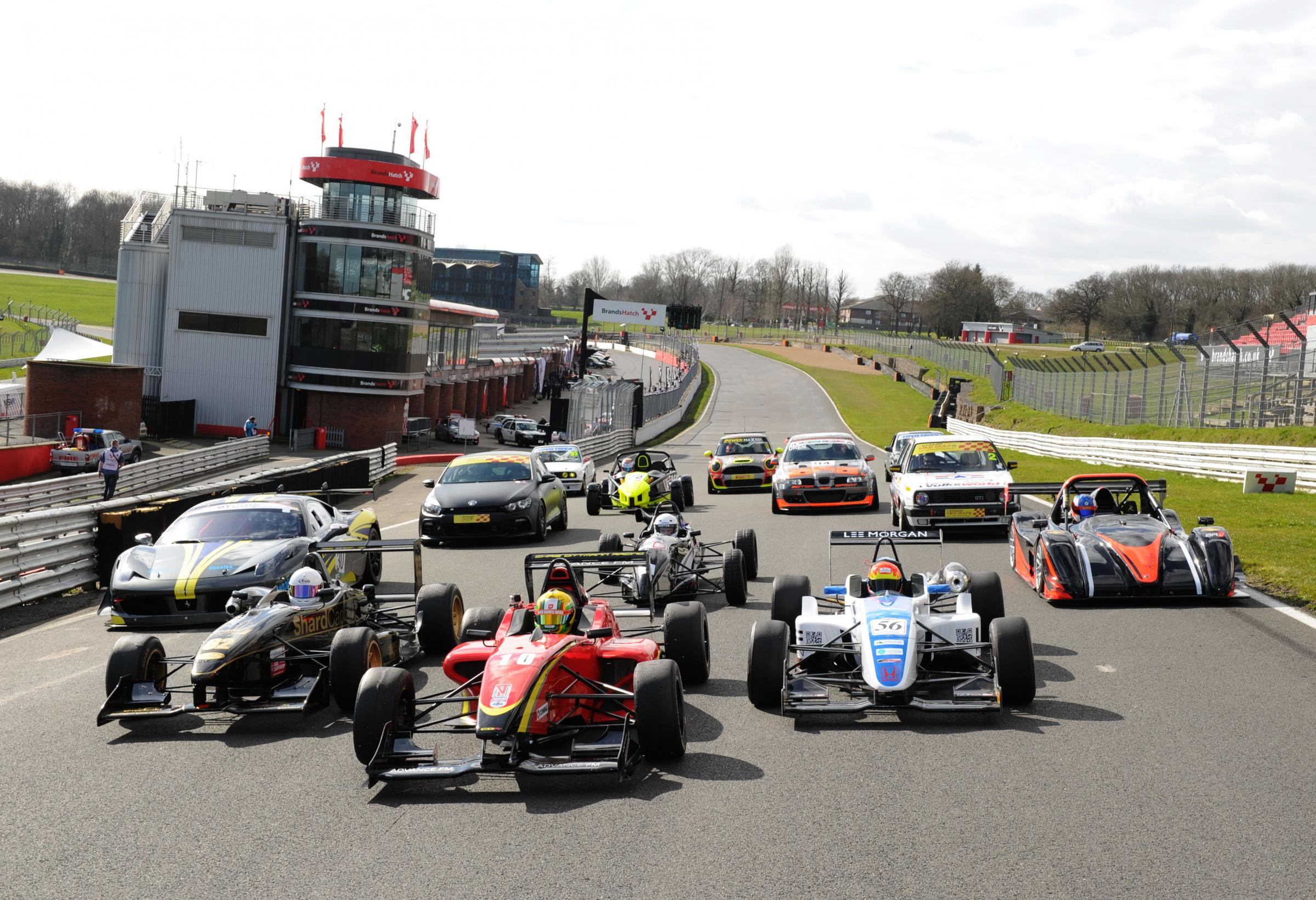 News Shopper: MSVR racing cars line-up on the grid