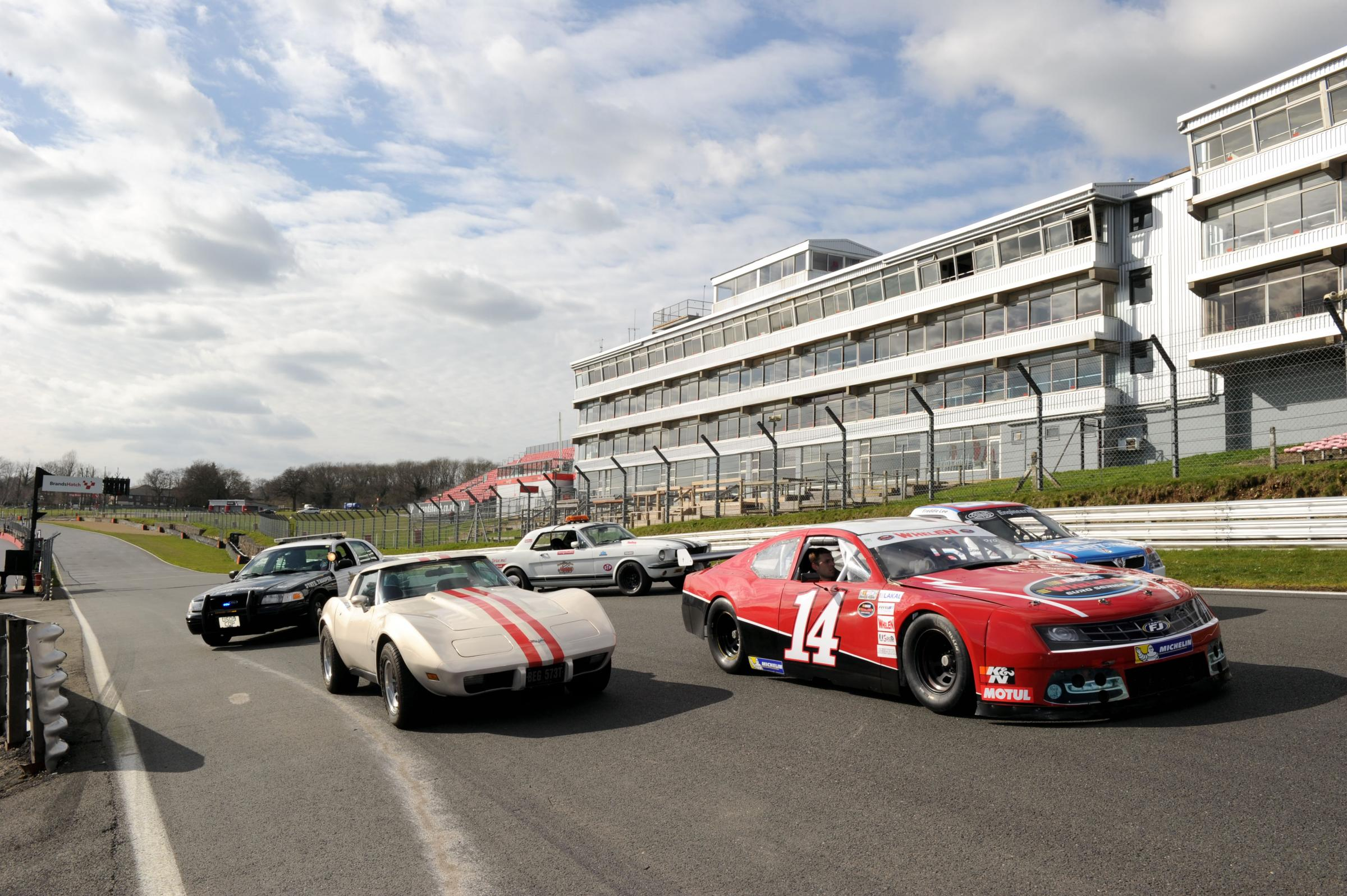 News Shopper: Cars from the NASCAR Euroseries line-up on the grid. Event is on June 8th.