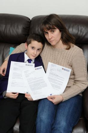 Kelly Feria De La Torre 42, of Thornton Road, Belvedere, was fighting to get her son Joshua, 11, who has Autism Spectrum Disorder (ASD), a council-funded teaching assistant to help him for 18 hours a week.