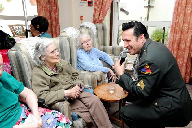 News Shopper: 'Elvis' brings singing and dancing to Aldington House Care Home