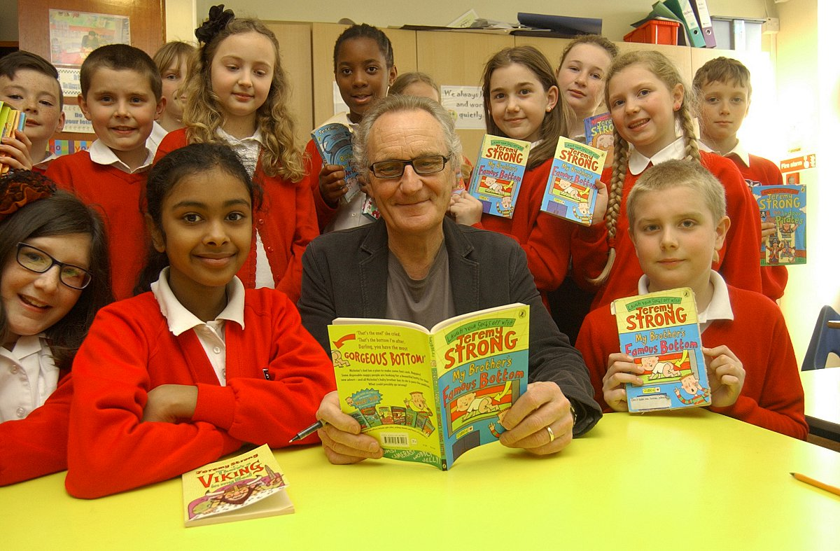 Children's author Jeremy Strong visits Bexleyheath primary school