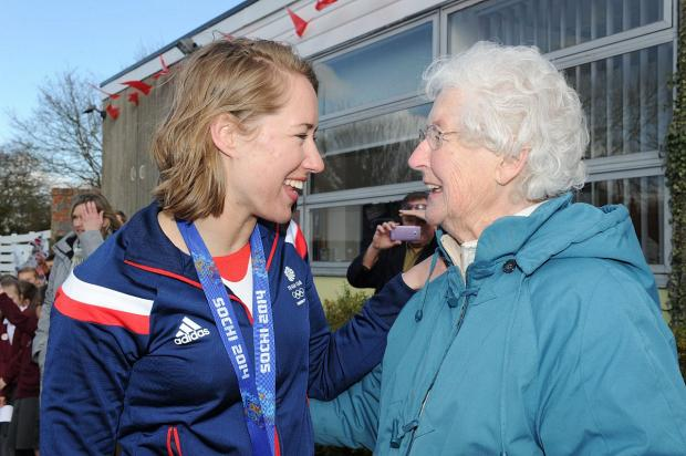 News Shopper: PICTURED: Olympian Lizzy Yarnold delights hometown West Kingsdown with victory parade