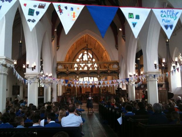 News Shopper: All Saints' Church was decorated with bunting made by the children for the awards ceremony