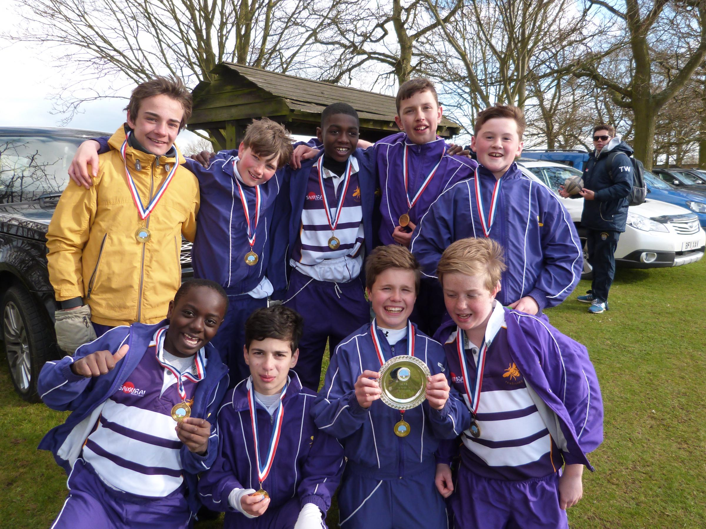 News Shopper: The Bickley Park boys celebrate