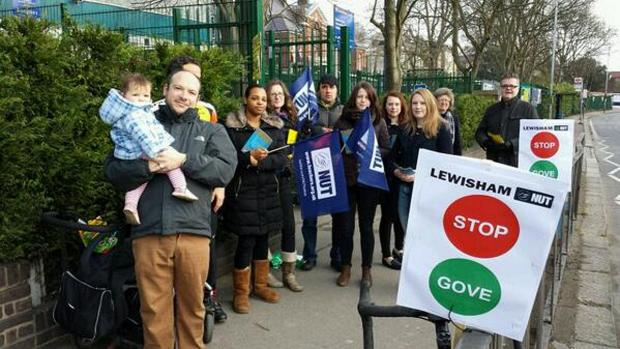 News Shopper: Teachers picket in Sydenham (pic by Lewisham NUT)