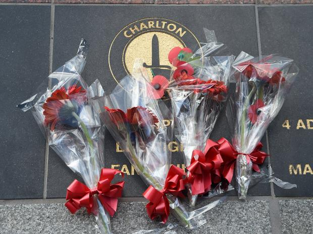News Shopper: Lee Rigby family's emotional visit to Charlton Athletic memorial