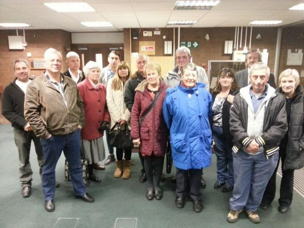 News Shopper: Disgruntled residents at the meeting last night.
