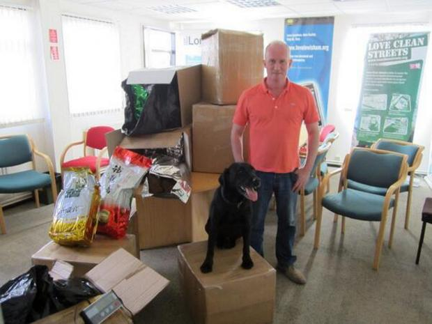 News Shopper: Jack the dog with his big find